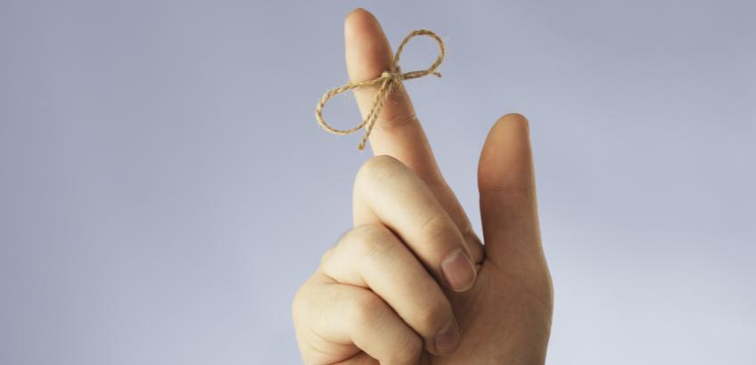 Husk! Finger med sløjfe
