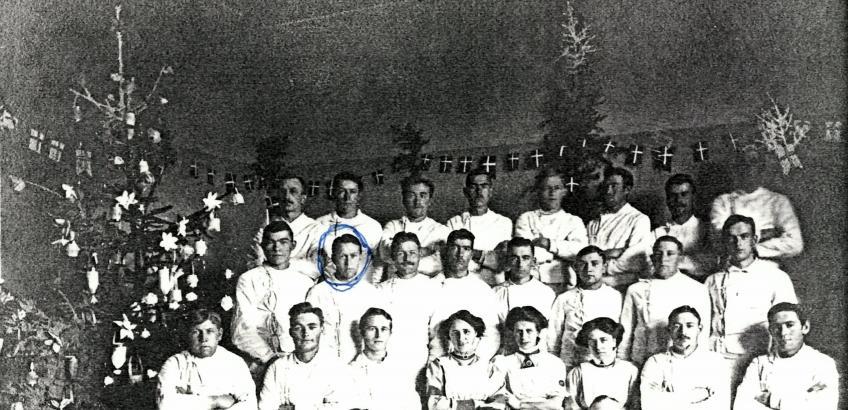 Infirmeriet Næstved Kaserne julen 1918
